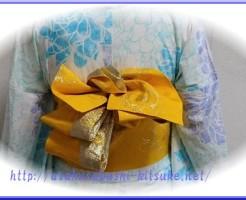 DSC_9923 浴衣半幅創作アレンジ帯結び1-3