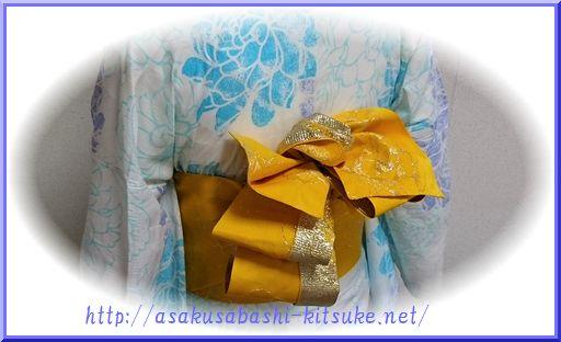 DSC_9927 浴衣半幅創作アレンジ帯結び2-3