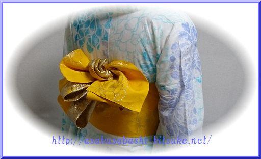 DSC_9931 浴衣半幅創作アレンジ帯結び3